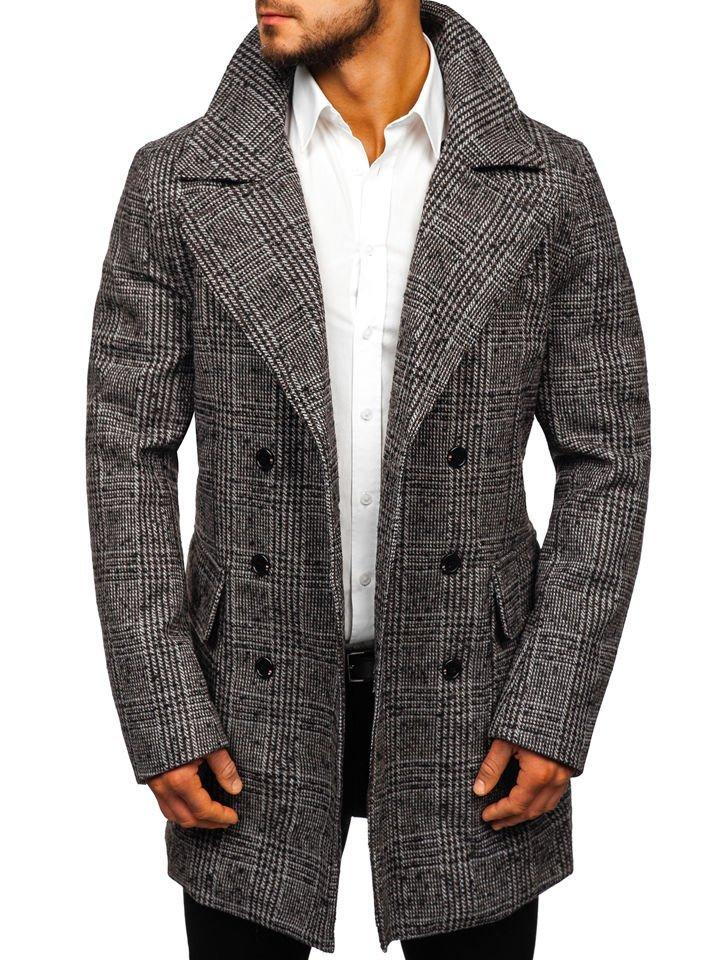 Le manteau d\u0027hiver pour homme gris Bolf 1118