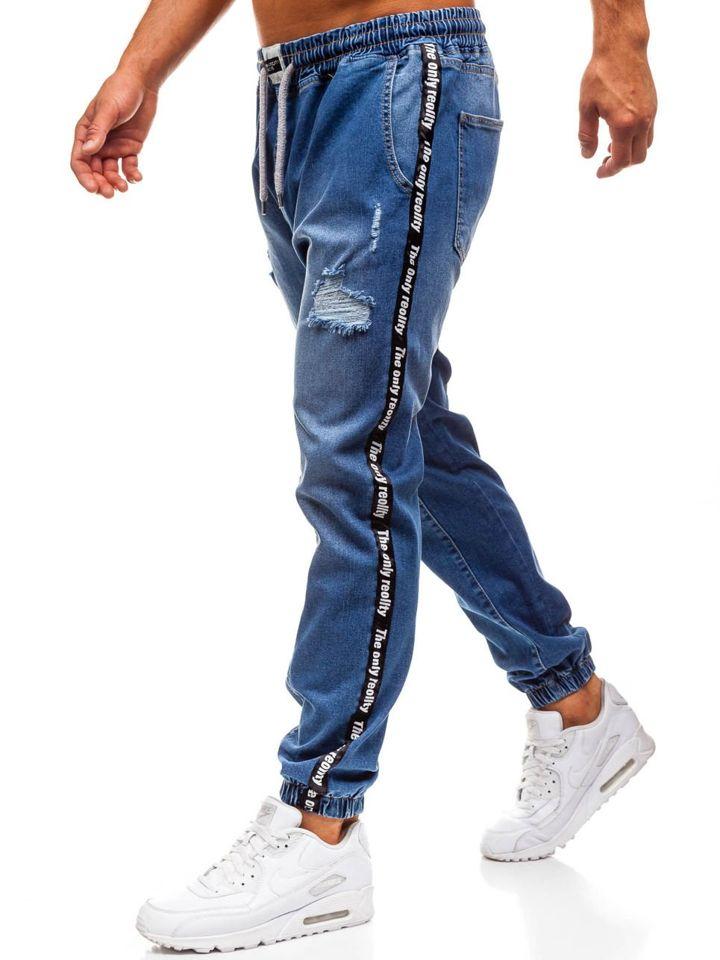 Le pantalon baggy en jeans pour homme bleu Bolf 2045 BLEU a79707c60b5