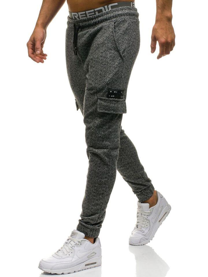 0928 Pour Gris 8 Cargo Le De Pantalon Sport Noir Homme Bolf eWxordCQB