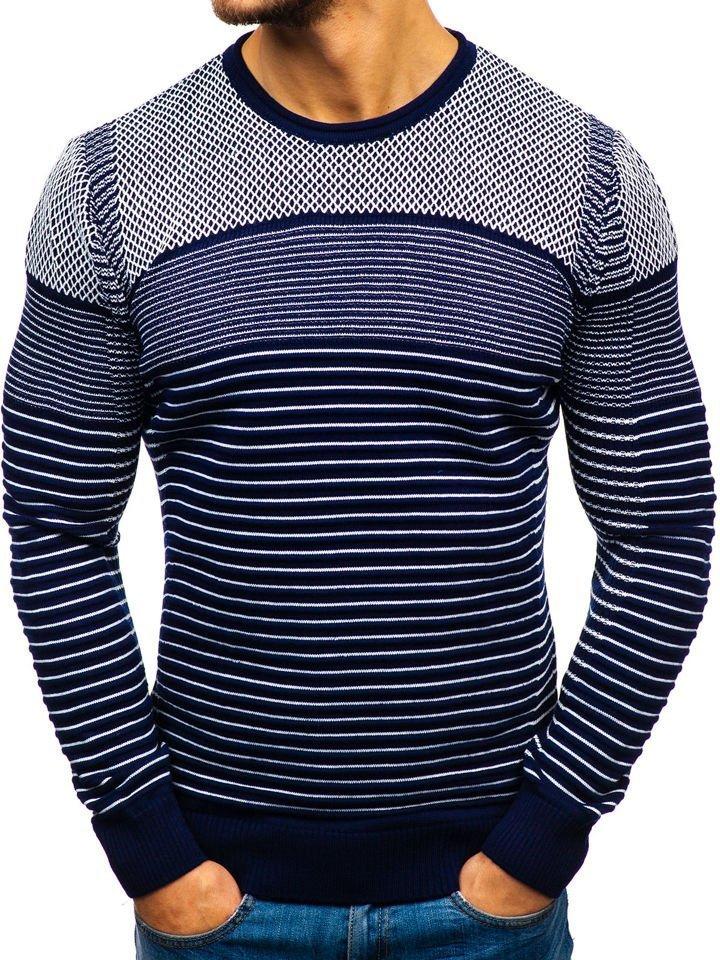 Pour Le Bleu Pull Homme 1015 Foncé Blanc Bolf thQxrdCs