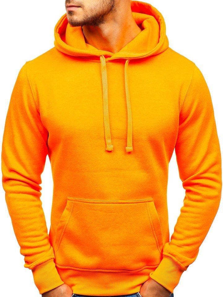 sweat a capuche homme orange