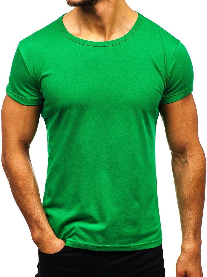 Le t-shirt sans imprimé pour homme vert Bolf