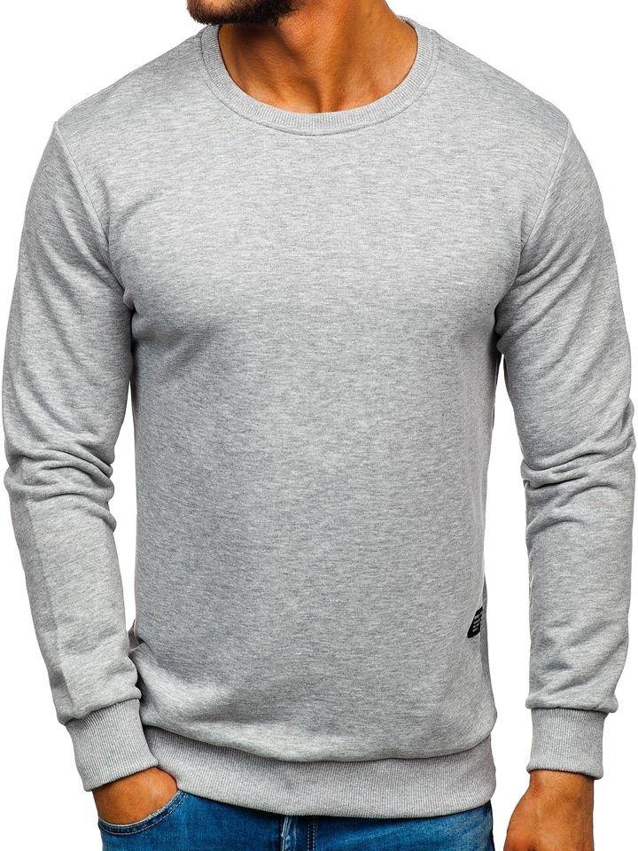 pull gris sans capuche manche longue