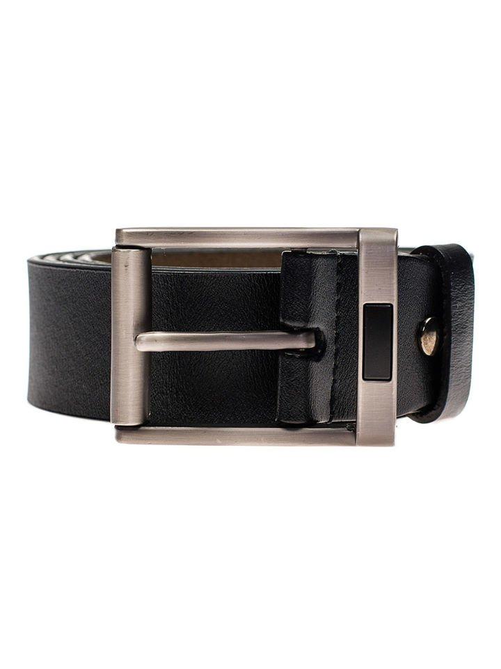 La ceinture noire en cuire pour homme Bolf P008-A