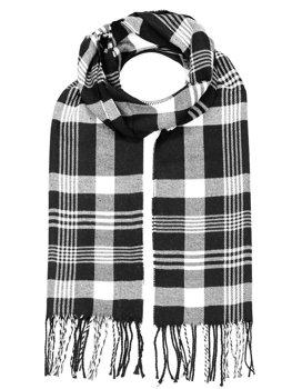 Zelly Gris Noir Fauve Beige Tassel Moderne Abstract Print glands écharpe écharpes