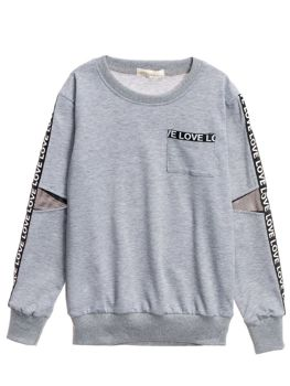 Le sweat-shirt pour fille gris Bolf WB2051