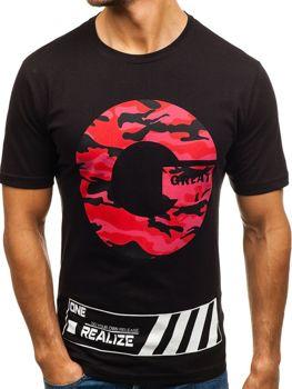 feb36c8c1436a Le tee-shirt imprimé pour homme noir Bolf 6299