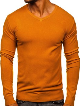 Pull pour homme camel à col-V Bolf YY03