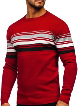 Pull pour homme rouge Bolf H2061