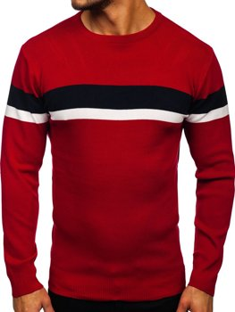 Pull pour homme rouge Bolf H2072