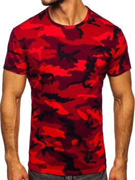 Tee-shirt pour homme rouge camo Bolf S807