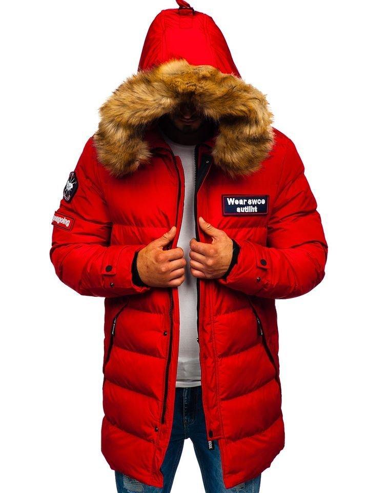 magasin d'usine 44c0f 382fb La parka d'hiver pour homme rouge Bolf 5970