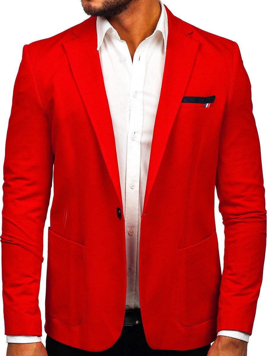La veste décontractée pour homme rouge Bolf 1652 ROUGE