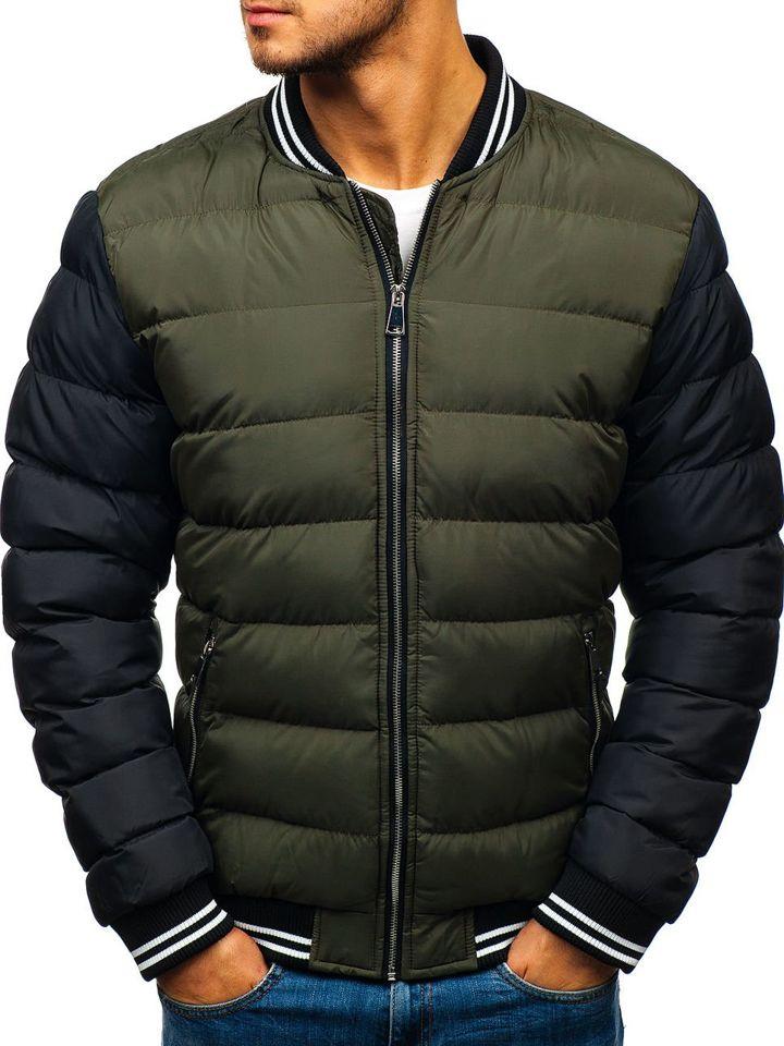 invaincu x bas prix haute couture Le blouson bomber d'hiver pour homme vert Bolf 5366