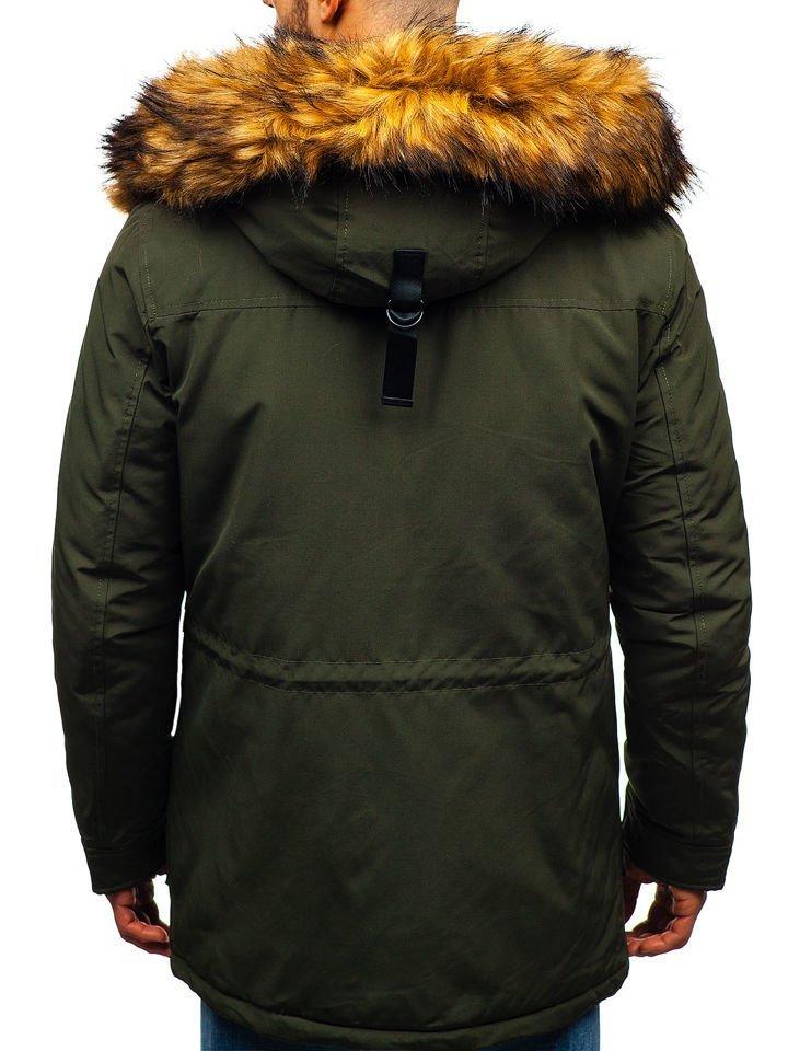 f68c28059 Le blouson d'hiver pour homme vert Bolf 99126