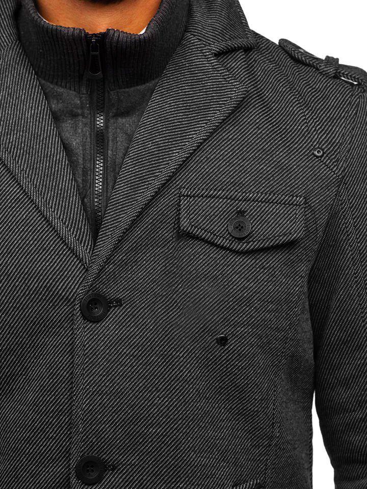 Le manteau d'hiver pour homme gris Bolf 88801