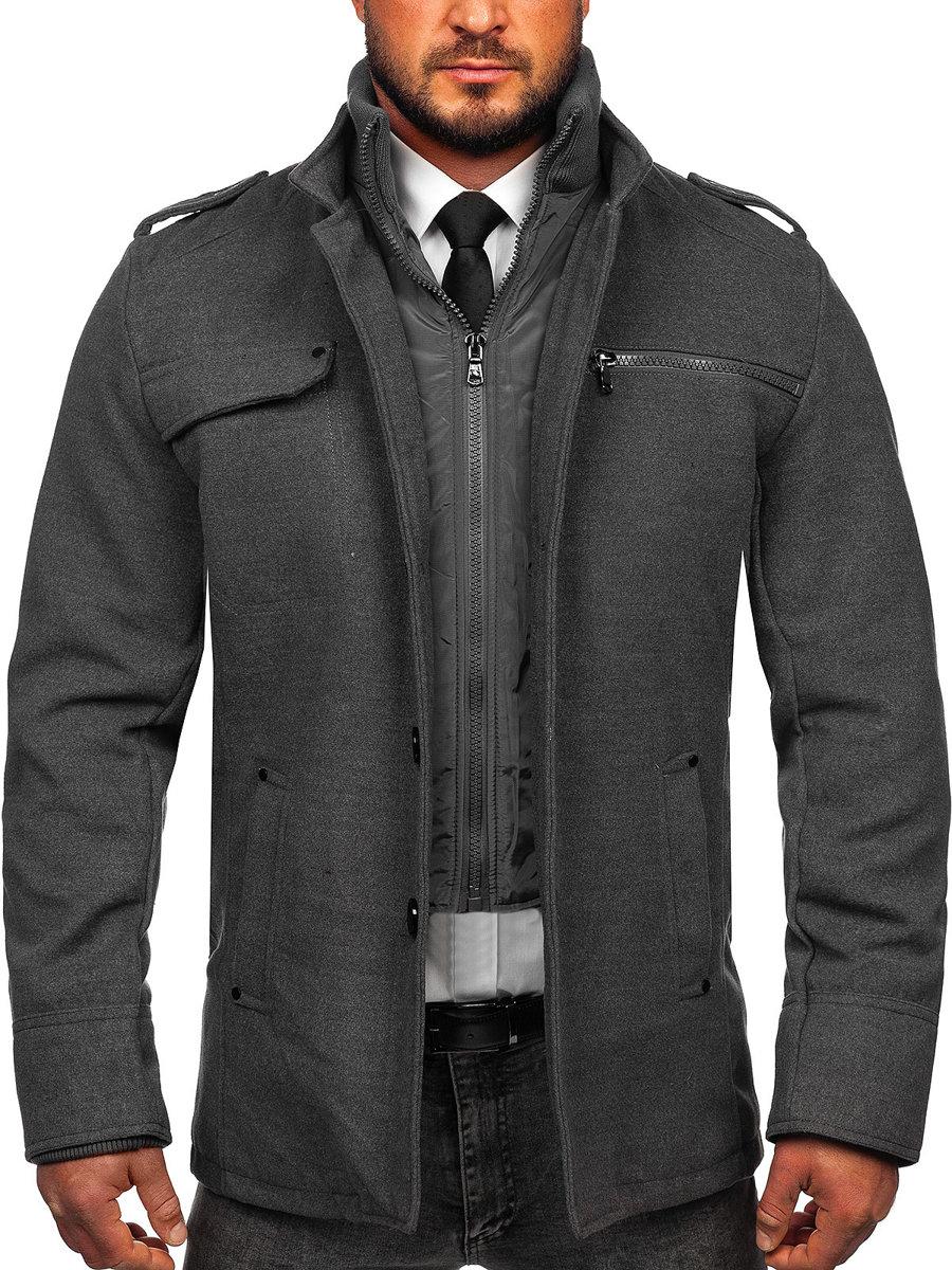 Le manteau pour homme gris Bolf 8856