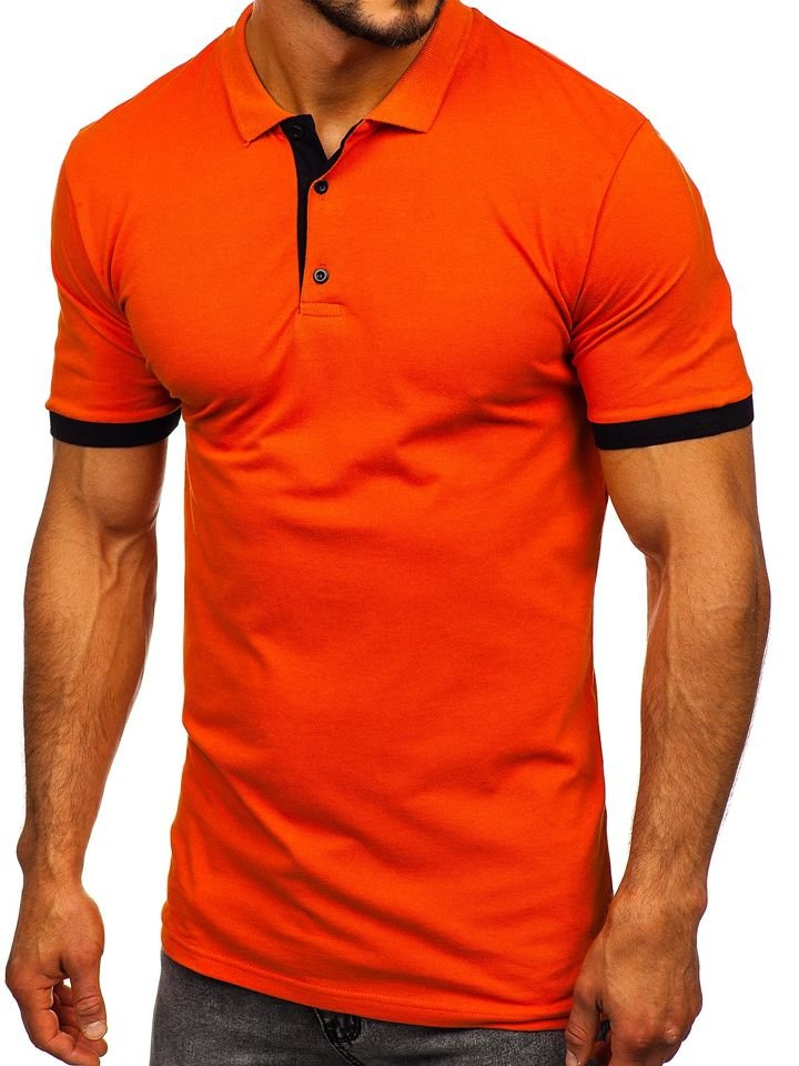 Le polo pour homme orange Bolf 171222-1 ORANGE