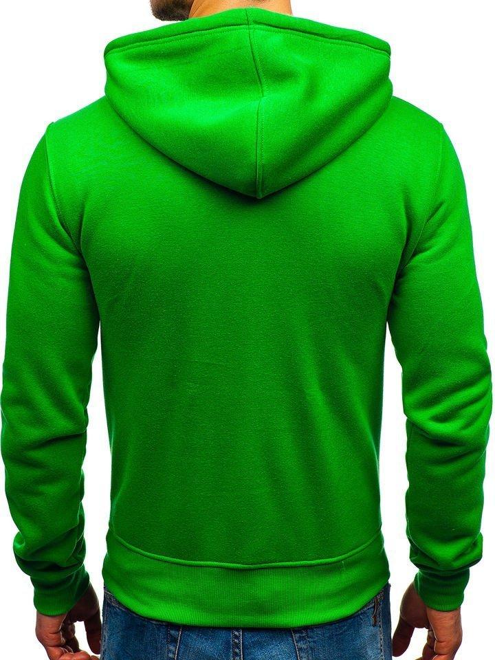 Le sweat-shirt à capuche pour homme vert