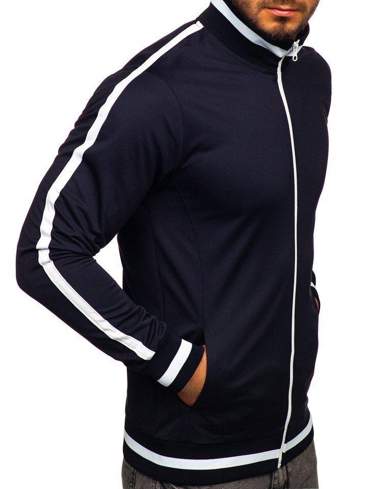 sweat shirt homme zippé sans capuche