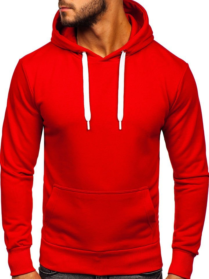sweat shirt rouge homme