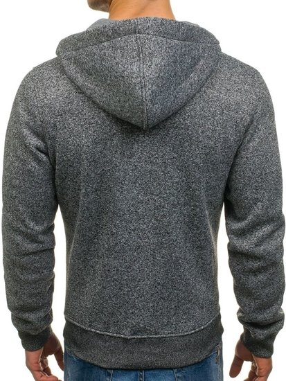 Le sweat-shirt à capuche pour homme anthracite Bolf TC10